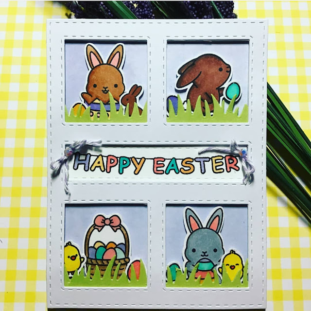 Sunny Studio Stamps: Chubby Bunny Customer Card Share by Amanda