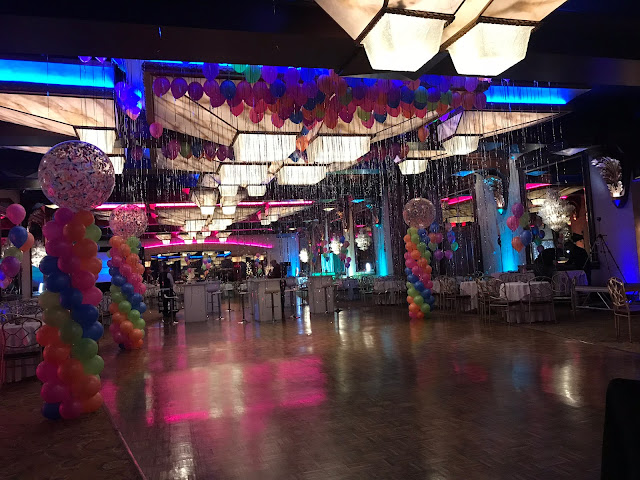 80's prom, corporate events, balloon decor, neon balloons