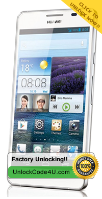 Network Unlock Code for HUAWEI Ascend Mate