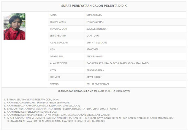 fitur print data pendaftaran aplikasi ppdb