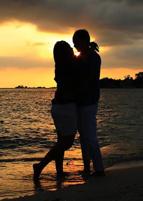 sunset di pulau kelayang belitung