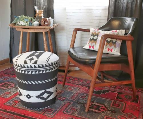 Pretty Little Lady Design Bucket Pouf Diy Upholstered