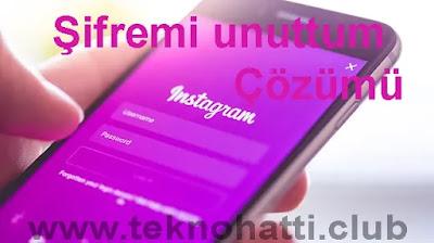 İnstagram Şifremi Unuttum (Çözüm) 2019