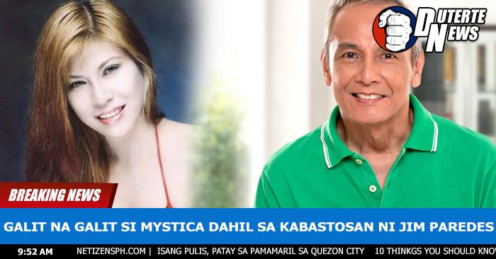 Inilabas Ang Matinding Galit ni Mystica kay Jim Paredes