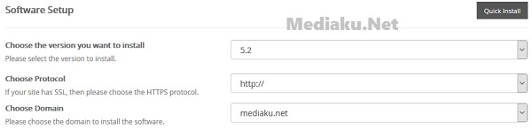 Cara Pilih Versi WordPress Saat Instal