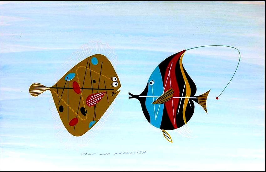 Charles Harper, two fish meet