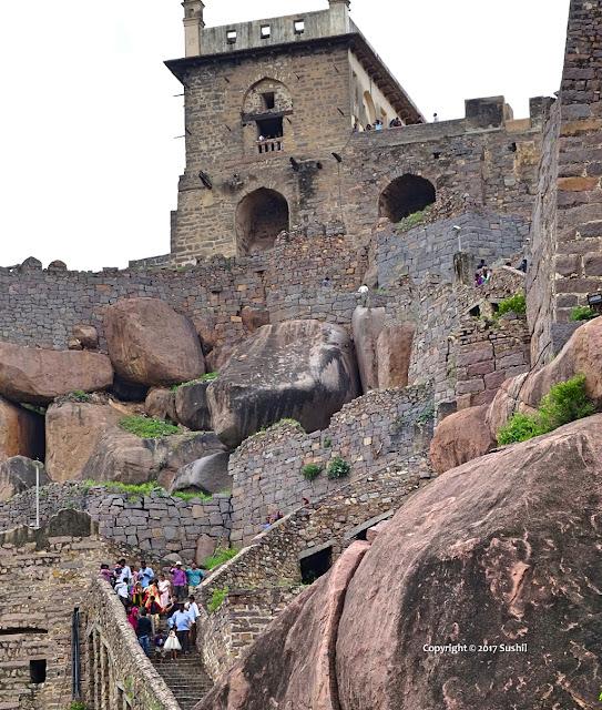 The Baradari of Golkonda Fort, Hyderabad