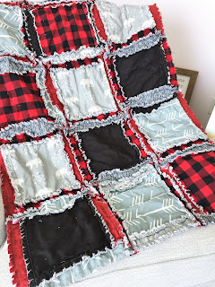 red and black, gray bear crib bedding for baby boy nursery