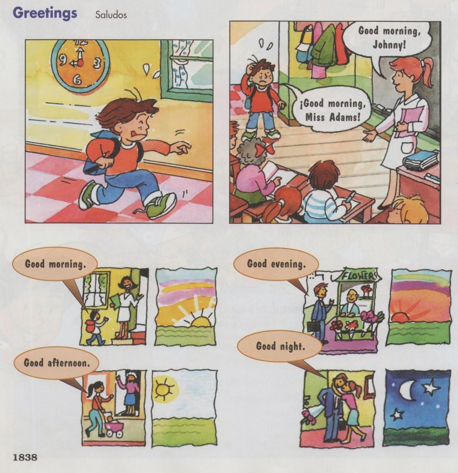 Imagenes De Saludos Y Despedidas En Ingles Para Colorear