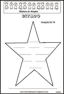 Treino ortográfico tr de estrela