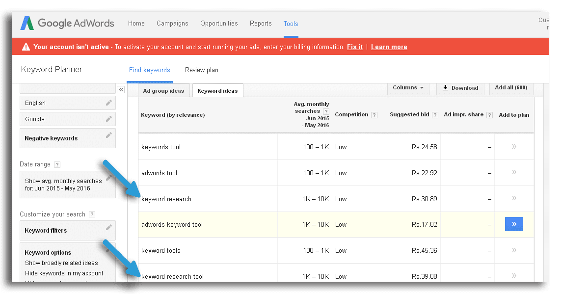 Best Seo Keyword Research Tool keyword planner