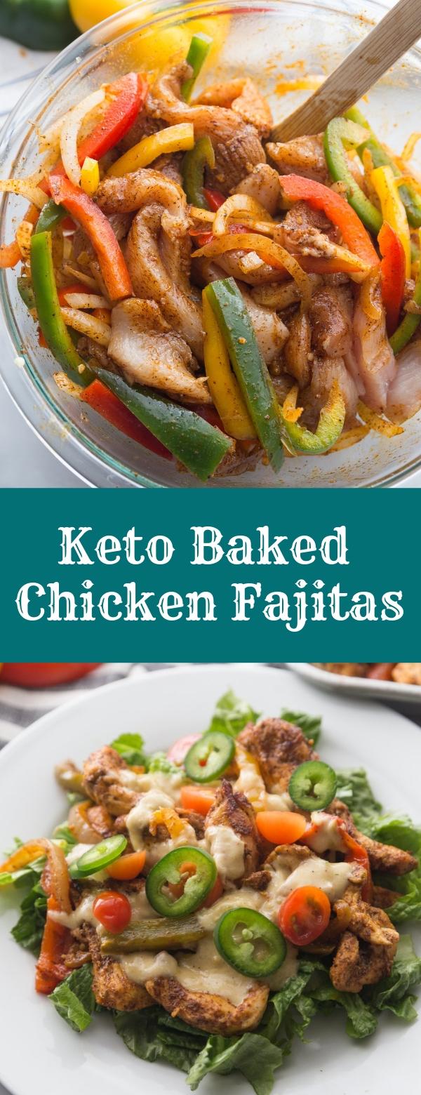 Keto Baked Chicken Fajitas