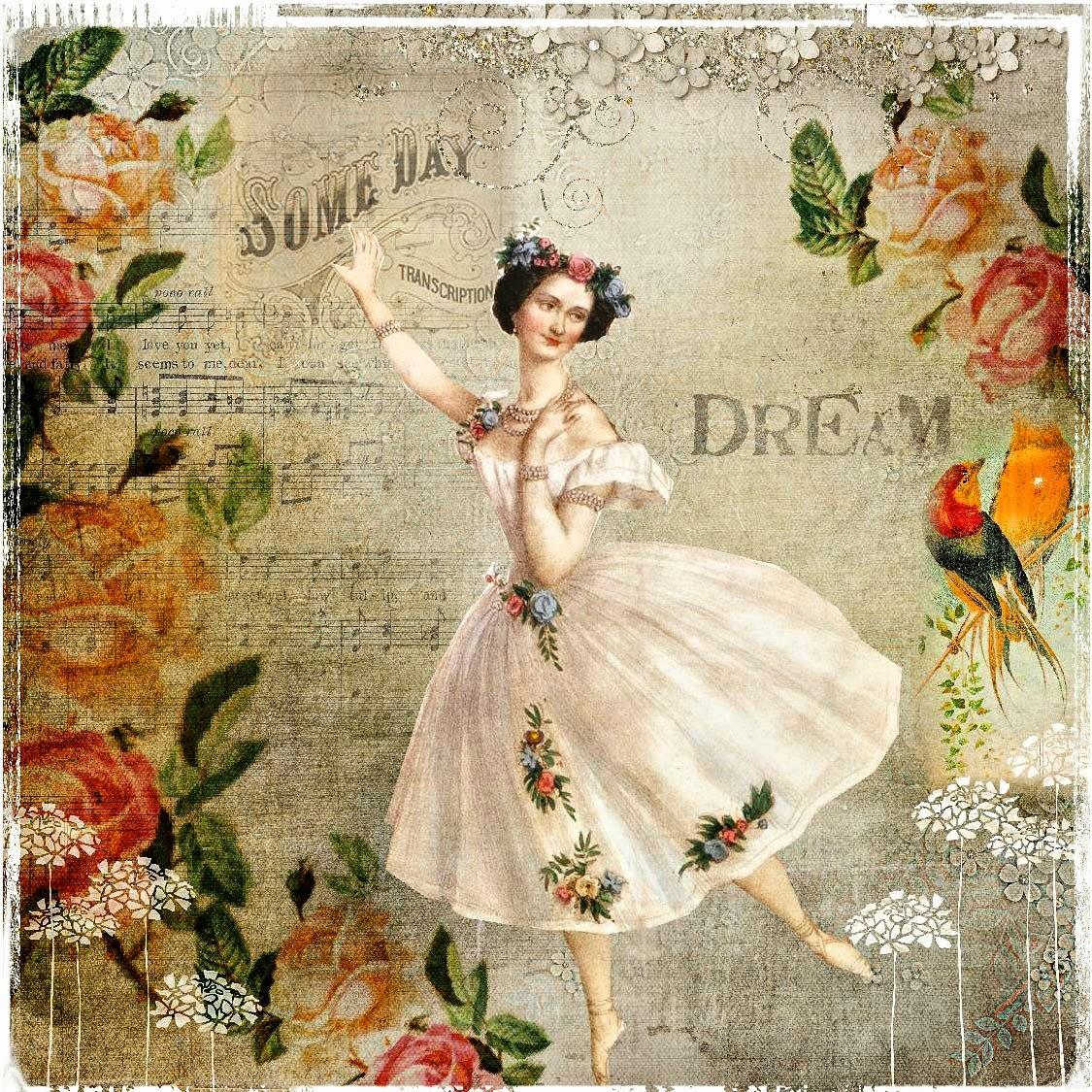 картинки для декупажа балерины винтаж что морские жители