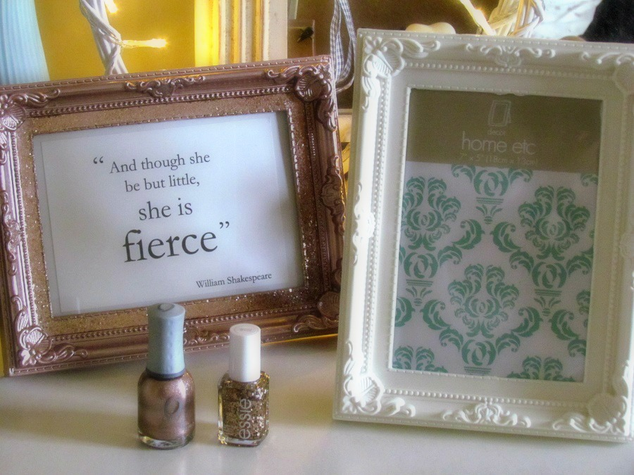 Upcycle a photo frame with nail polish, DIY, lifestyle blog, Poundland, Fragrance Direct, Orly, Essie
