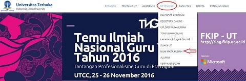 Tips Cara Cek dan Melihat Nilai UT di Website Universitas Terbuka www.ut.ac.id