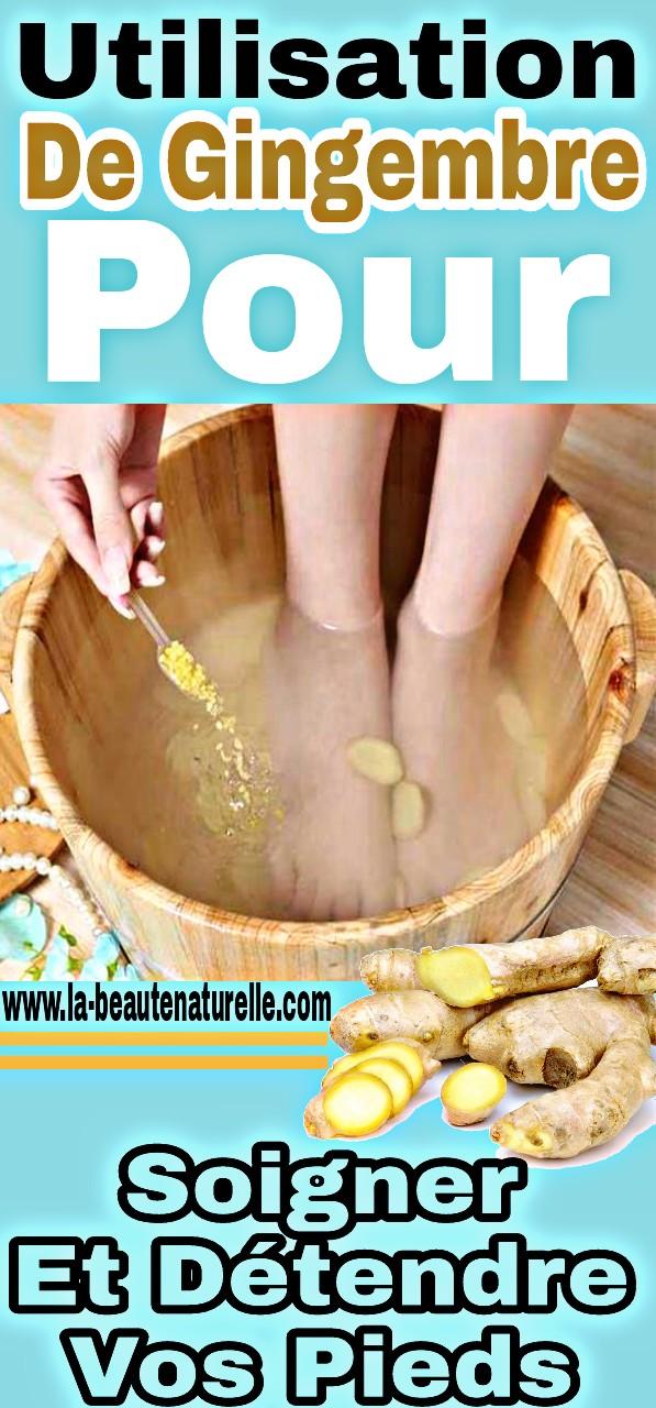 Utilisation de gingembre pour soigner et détendre vos pieds