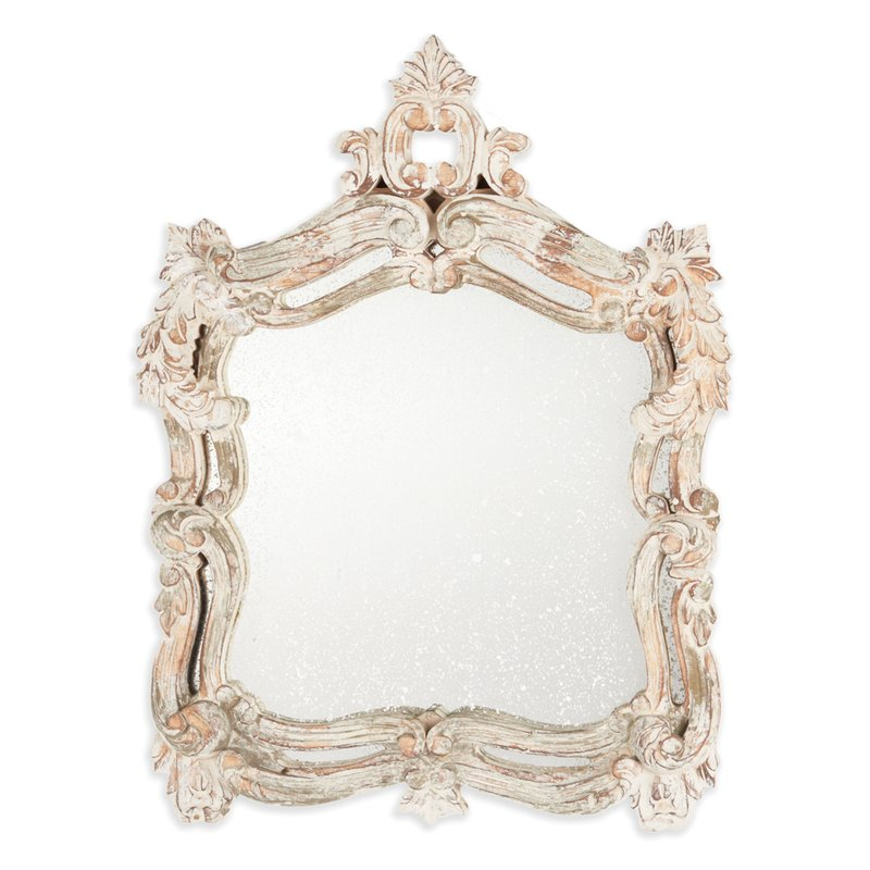 french country cottage mirror powderoom