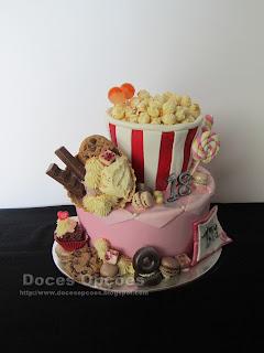 bolo doces pipocas bragança