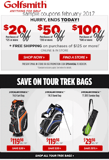 Golfsmith coupons february 2017