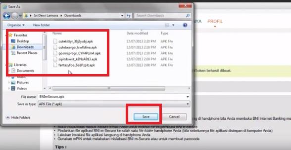 Cara Download BNI m-Secure