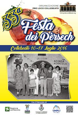 Festa dei Pèrsech dal 10 al 17 Luglio Collebeato (BS) 2016