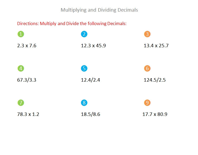 Bro and Sis Math Club: Multiplying and Dividing Decimals