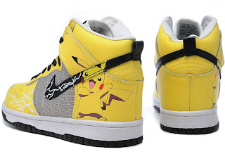 new product 0e48f 7daec Pikachu Nike Dunks Nike Dunk High Top Pikachu Pokemon Yellow