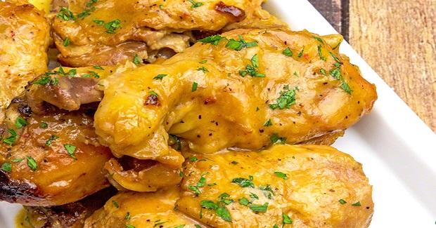Slow Cooker Golden Chicken  Recipe