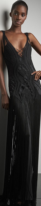 Ralph Lauren Crocheted Fringed Maxi Dress