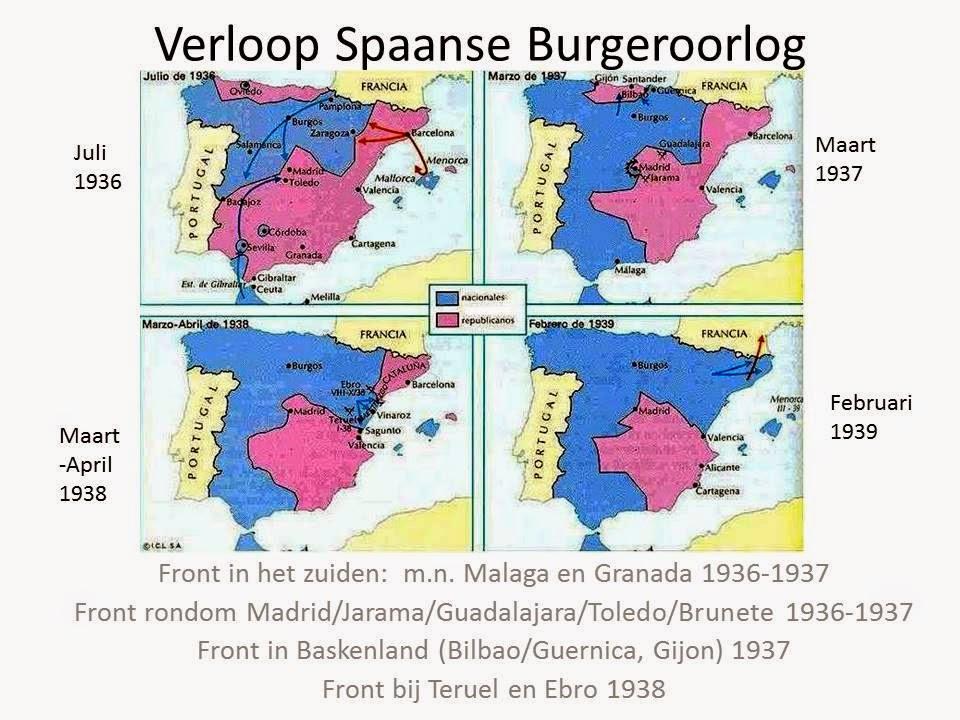 Afbeeldingsresultaat voor spaanse burgeroorlog