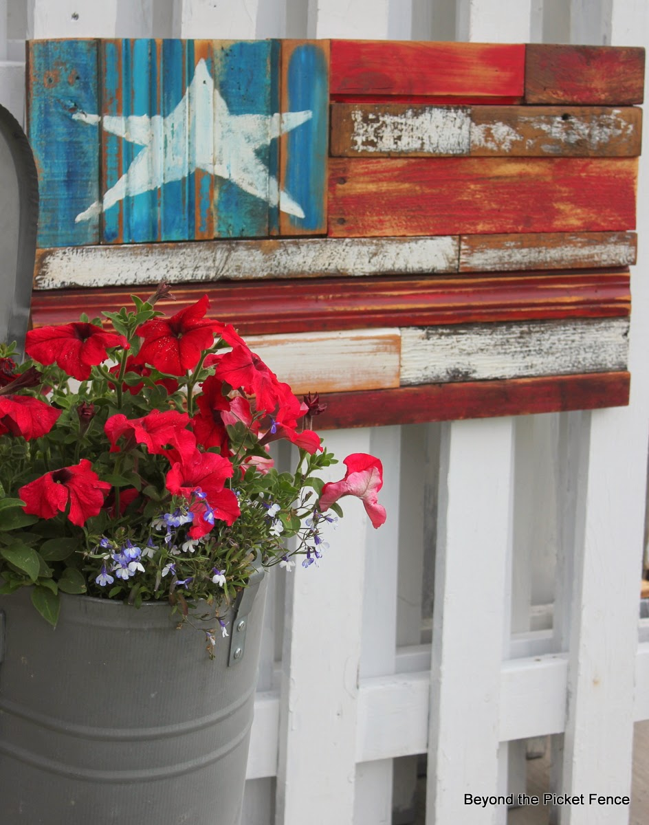 Beyond The Picket Fence Reclaimed Wood Flag