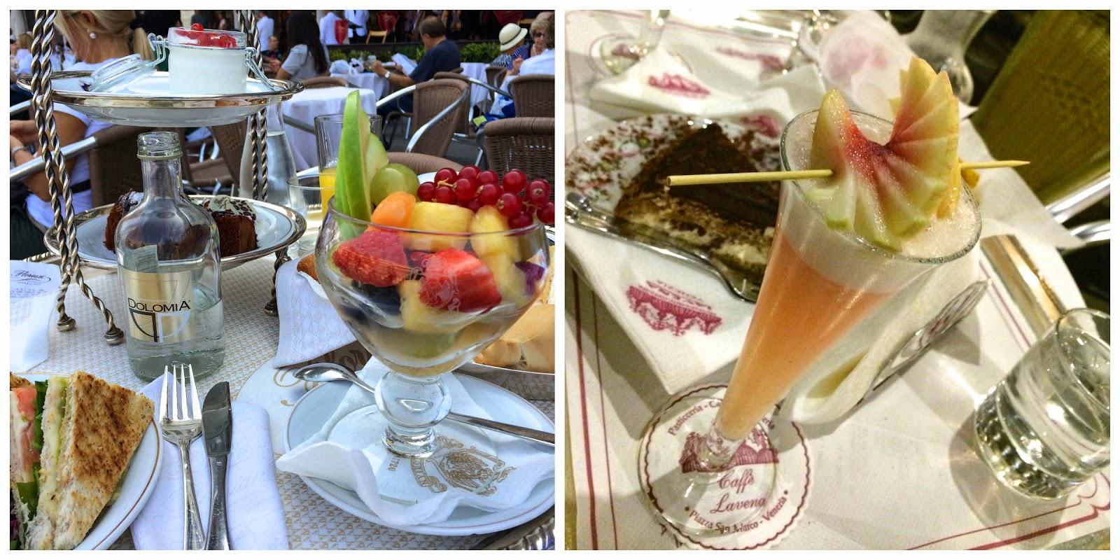 Casanova's breakfast at Caffè Florian. Bellini at Gran Caffè Lavena