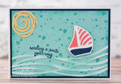 Swirly Bird Boat Card featuring Stampin' Up! UK supplies - buy them here
