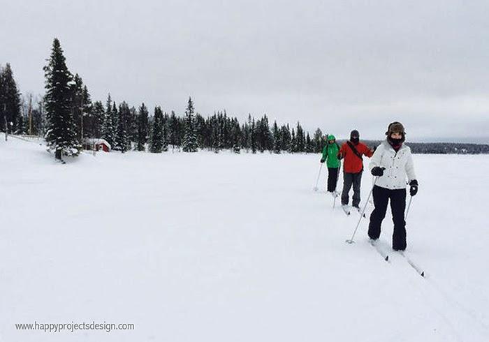 Laponia: esquí de fondo sobre el lago helado