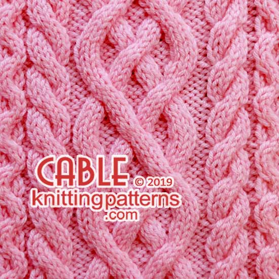 Free Knitting Pattern Big Cabled Panel