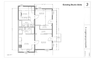 Conversion Of Two Studios Into A Single One Bedroom Apt Design Ideas