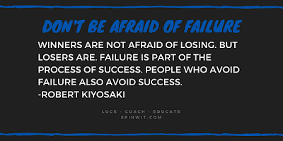Spinwit.com and Coach Ball blog about Failure and Success Robert Kiyosaki educates people on managing money and has written multiple books about the differences between what rich dads teach their kids vs what poor dads teach their kids.