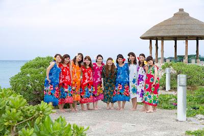 沖縄 女子グループ写真 海