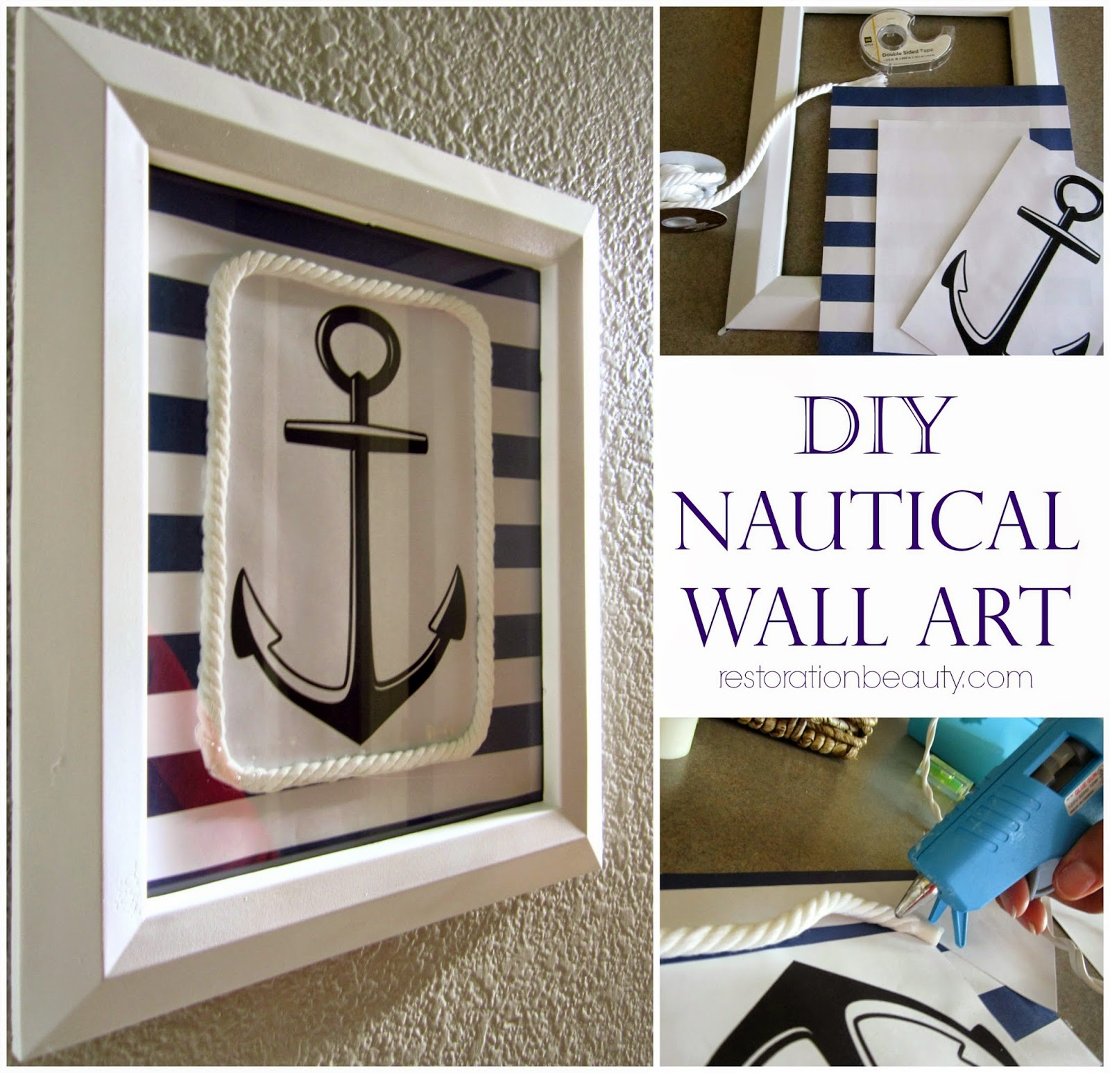Home Made Wall Decor: Restoration Beauty: DIY Nautical Wall Art