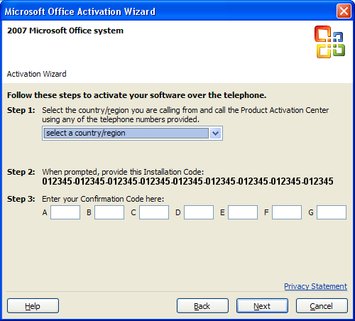 activate ms office 2007