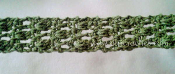 Crochet, Crochet Accessories, Crochet Headband, Crochet Tie Headband, Offset Cluster Tie Headband, Free Crochet Pattern,