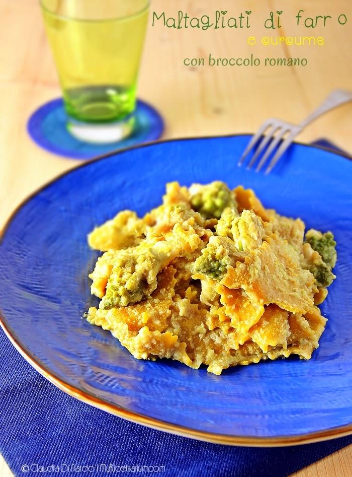 Maltagliati di farro e curcuma con broccolo romano