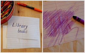 Make impressions on the paper and then use crayons to reveal the secret message
