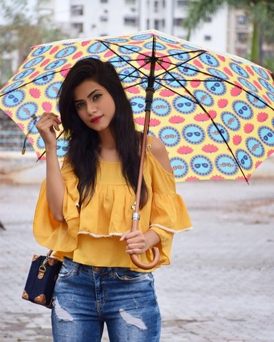Umbrella as a fashion accessory