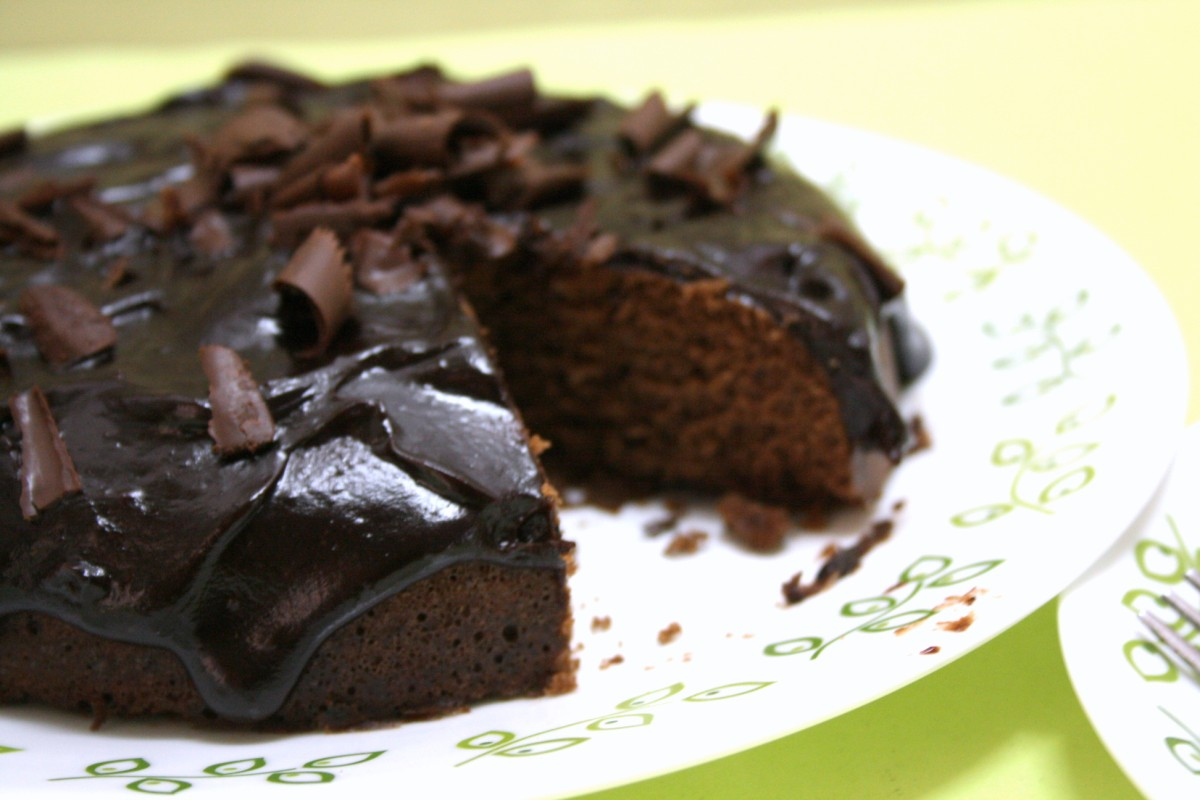 Eggless Microwave Chocolate Cake