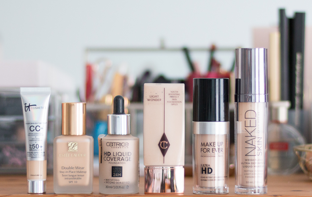 It Cosmetics Your Skin But Better CC+ Fair im Farbvergleich mit anderen Foundations