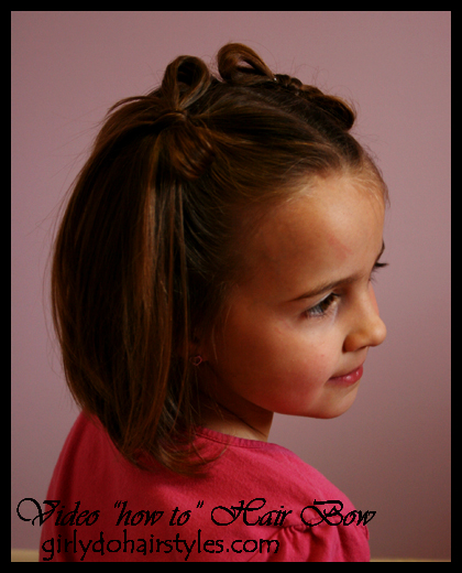 Remarkable Girly Do Hairstyles By Jenn Hair Bow Video Short Hairstyles Gunalazisus