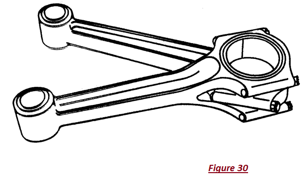 Connecting Rod on Articulated Piston