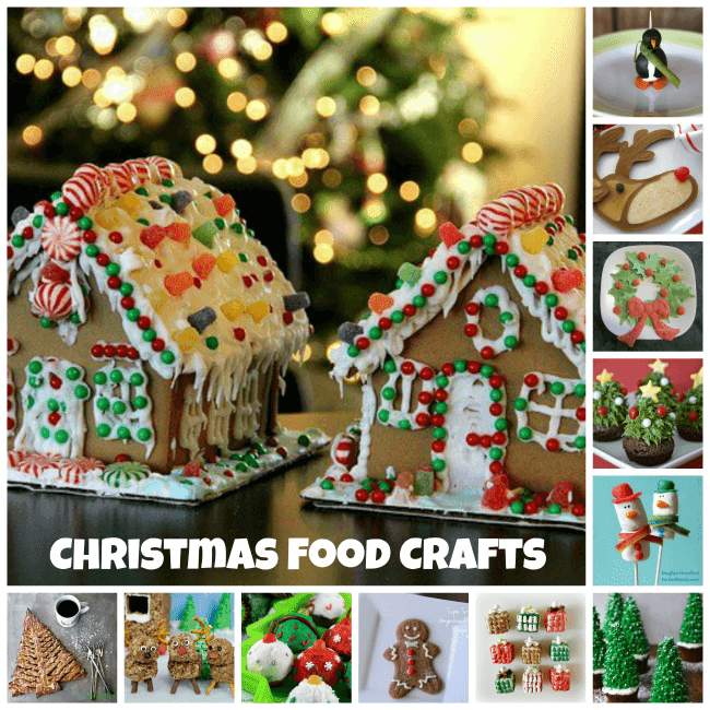 25 Christmas Food Crafts | Becky Cooks Lightly #Christmas #foodcrafts