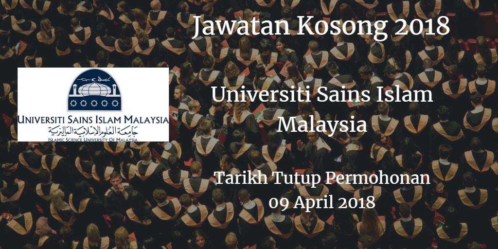 Jawatan Kosong USIM 09 April 2018